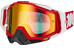 100% The Racecraft Goggle fire red/mirror red anti fog